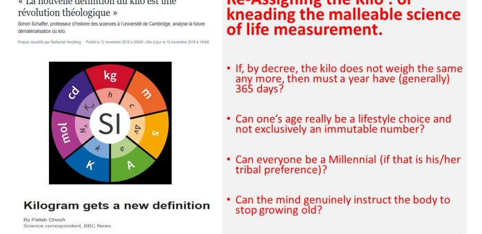 Re-Assigning the Kilo : or kneading the malleable science of life measurement
