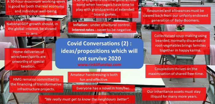 Get Ready Some More, Rinkli Funstaz : ideas/propositions which will not survive 2020.